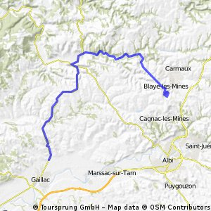 TdF 2003: 12. Etappe Caillac > Cap´Decouverte CLONED FROM ROUTE 223811