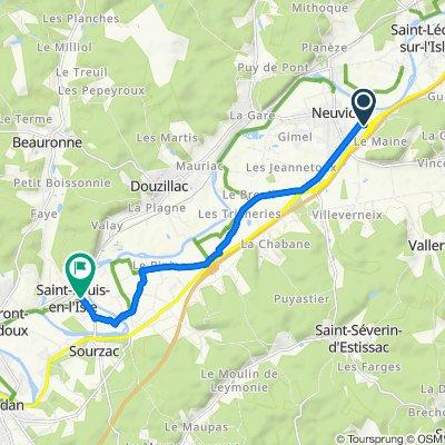 Itinéraire vers 18 Le Bourg, Saint-Louis-en-l'Isle