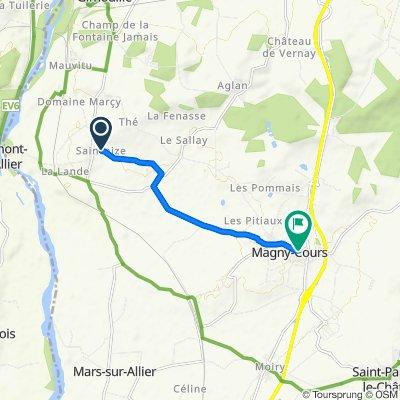 De 8 Le Bourg, Saincaize-Meauce à 2–4 Rue du Soufflet, Magny-Cours