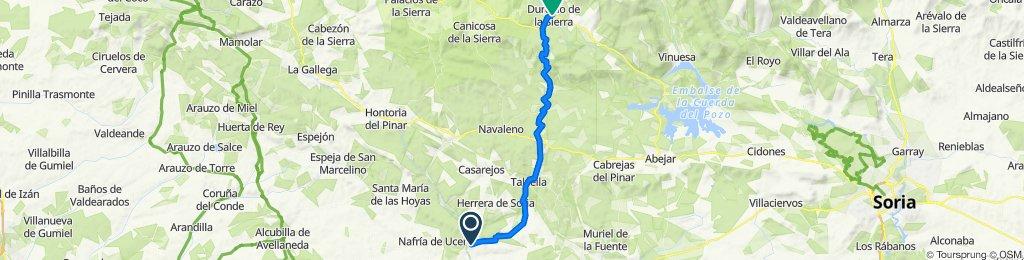 Restful route in Duruelo de la Sierra