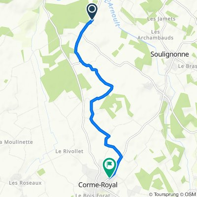 Steady ride in Corme-Royal