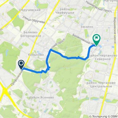 маршрут с Москва