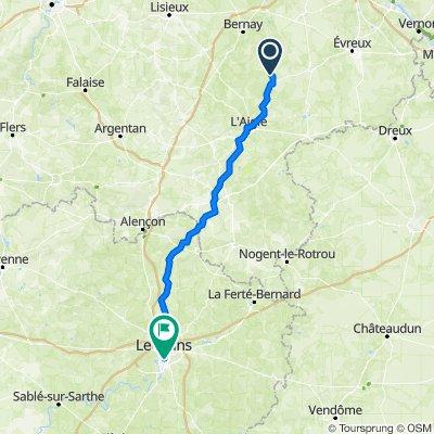5 Rue du Château, La Vieille-Lyre to 10 Rue des Tilleuls, Le Mans