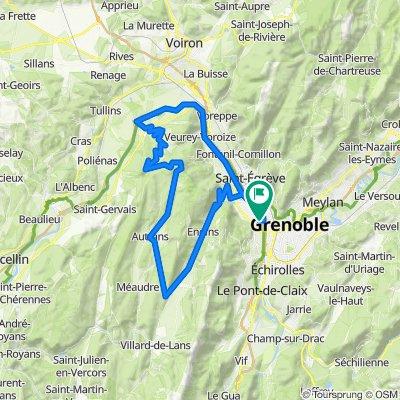 Pas du Mortier depuis Grenoble