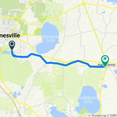 Gailesville-Hawthorne State Trail, Official, Linear