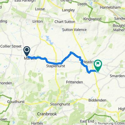 Sovereigns Way 28, Marden to Headcorn Aerodrome