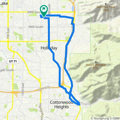 High-speed route in Salt Lake City
