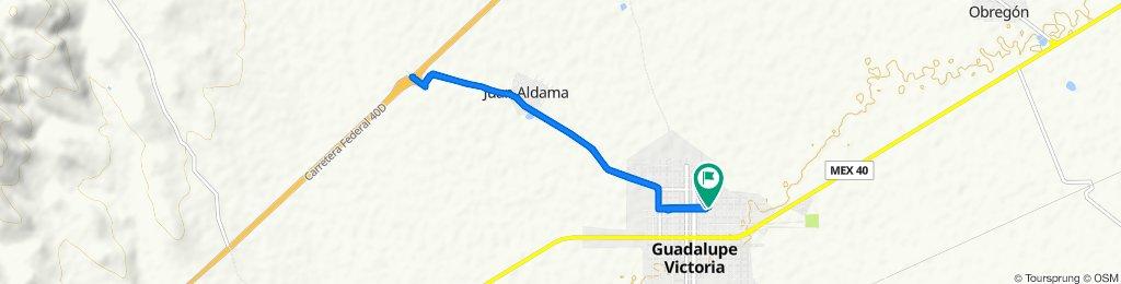 Paseo lento en Guadalupe Victoria