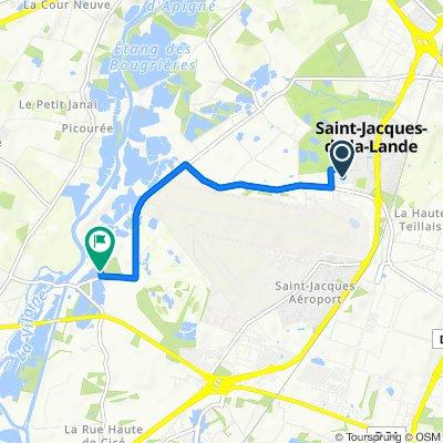 De 19 Allée des Pins, Saint-Jacques-de-la-Lande à La Petite Perelle, Saint-Jacques-de-la-Lande