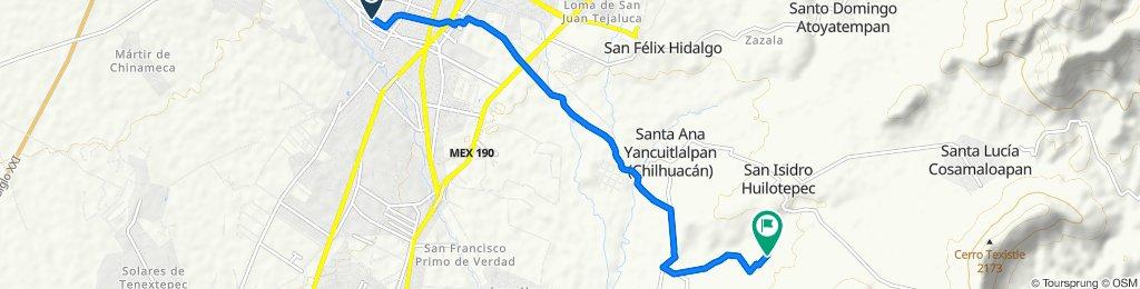 Ruta desde Calle Artículo 123 1911, Atlixco