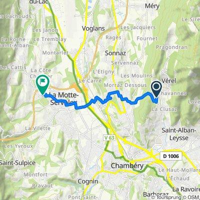 De Chemin de Champ Condie 6812F, Saint-Alban-Leysse à Avenue Charles Albert 690, La Motte-Servolex