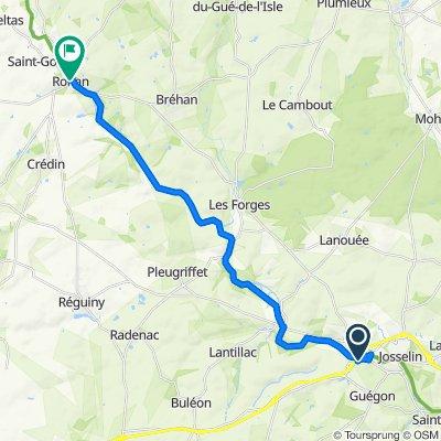 Le Bas de la Lande 10, Guégon nach Rue du Pont d'Oust 14, Rohan