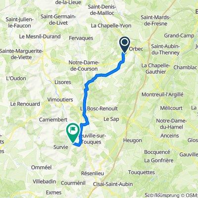 De La Mondière, Orbec à Le Presbytère 2, Aubry-le-Panthou