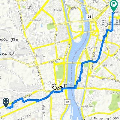 مدكور, العمرانية الغربية to Saraya Al Azbakya 14, Oraby