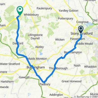 1 Wolverton Road, Milton Keynes to 3 Foresters Lane, Towcester