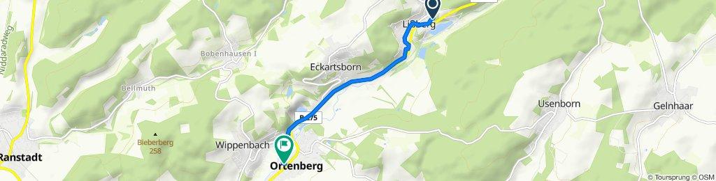Obergasse 9, Ortenberg nach In den Sankt Wendelsgärten 7, Ortenberg