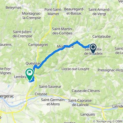 D32 45, Saint-Félix-de-Villadeix to Chemin de Grand Jean 12, Creysse