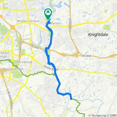 Allen Drive 5428, Raleigh to Allen Drive 5428, Raleigh
