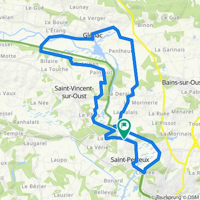 Sporty route in Saint-Perreux