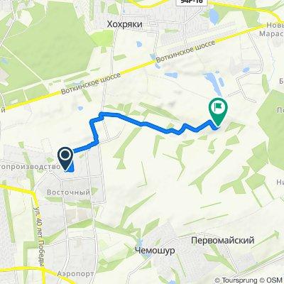 От Автозаводская улица 66, Ижевск до Unnamed Road, Ижевск