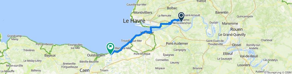De Avenue du Président Kennedy, Notre-Dame-de-Gravenchon à 72P Avenue Michel d'Ornano, Cabourg