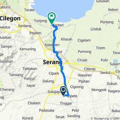 Jalan Ciayam, Kecamatan Curug to Jalan Bio Banten 42, Kecamatan Kasemen