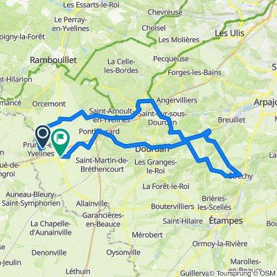 De Rue des Faures 12, Prunay-en-Yvelines à Allée du Parc 5, Ablis