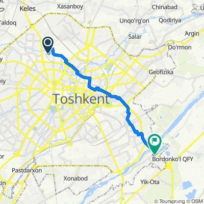 От Taraqqiyot ko'chasi, Тошкент до Стадион, Тошкент