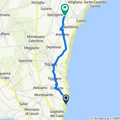 Route to Via della Vardara, Diso
