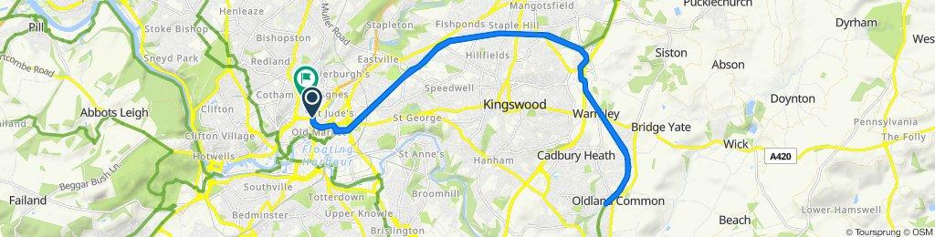 50E The Circus, Bristol to 33 Brigstocke Road, Bristol