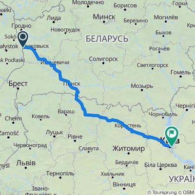 От Поплавцы, Паплаўцы до Автостоянка, Київ