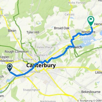 Tonford Lane, Canterbury to 2 Bredlands Lane, Canterbury