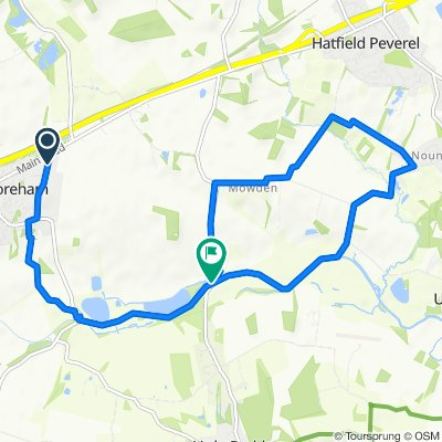 Boreham to Papermill Lock (10k run route)