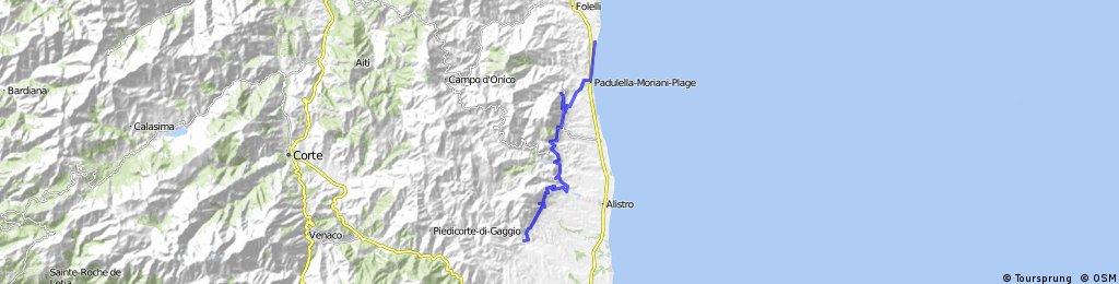 Etappe 2: Camping Miami Plage - U Mulinu