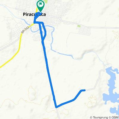 Restful route in Piracuruca