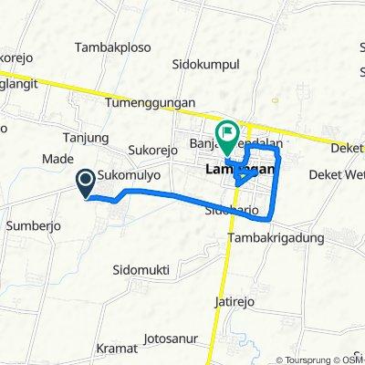 Jalan Made Kidul Gang 12 No.23, Kecamatan Lamongan to Ngaglik Timur, Kecamatan Lamongan