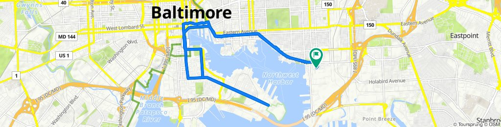 Relaxed route in Baltimore