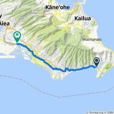 333 Keahole St, East Honolulu to 713–721 Puʻuloa Rd, Honolulu