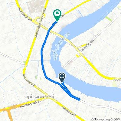 50 ถนนราษฎร์บูรณะ, กรุงเทพมหานคร naar 257 ถนนเจริญนคร, กรุงเทพมหานคร