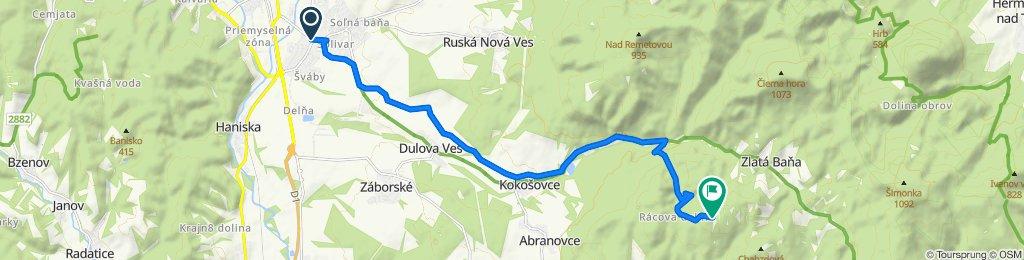 Prešov - Sigord - Rácova Dolina - Bodoň