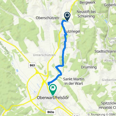 Königsberger Allee 125, Jormannsdorf nach Hauptplatz 10, Oberwart