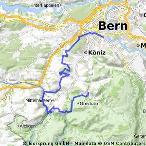 Bern-Mengestorf-Thörishaus-Schwarzwasserbrücke-Oberscherli
