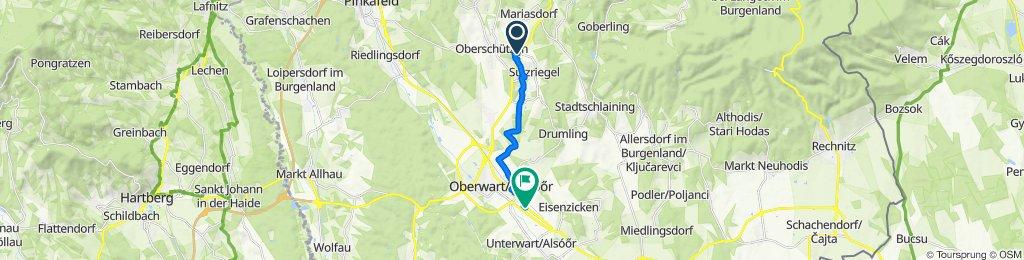 Königsberger Allee 41, Jormannsdorf nach Steinamangerer Straße 155, Oberwart