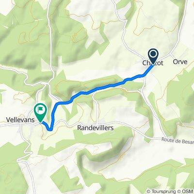 Impasse des Cra 17, Chazot nach Grande Rue 5, Vellevans