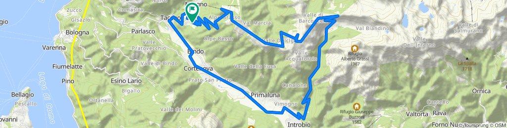 Crandola Pian delle Betulle Rifugio Ombrega Val Biondino Introbio