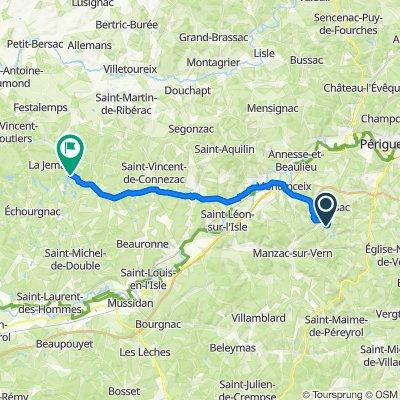 De Route de La Beylie, Coursac à 69 Au Grand Étang, La Jemaye