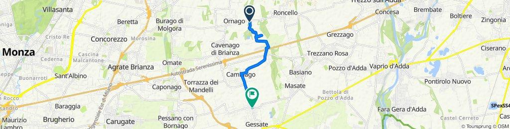 Da Via Banfi 2, Ornago a Via Badia 14, Gessate