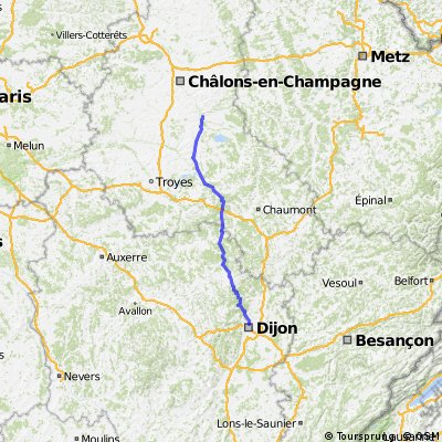Vitry le Francois - Dijon CLONED FROM ROUTE 557657