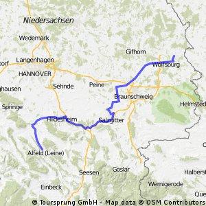 Wolfsburg Rapperswil Teilstrecke Wolfsburg - Alfeld