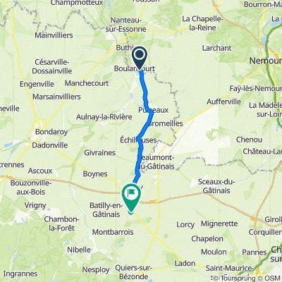 De D410, Boulancourt à 12 Place du Marché, Beaune-la-Rolande